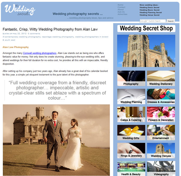 Press Features: The Wedding Secret