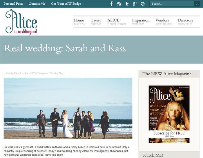 Press Features: Alice In Weddingland