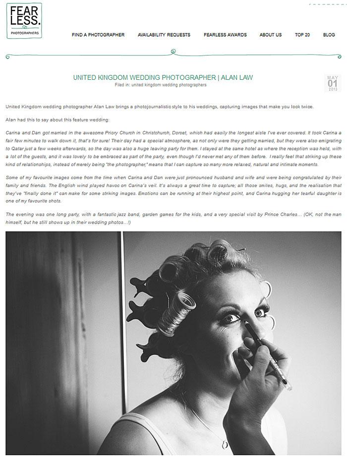 Press Features: Fearless Photographers Spotlight