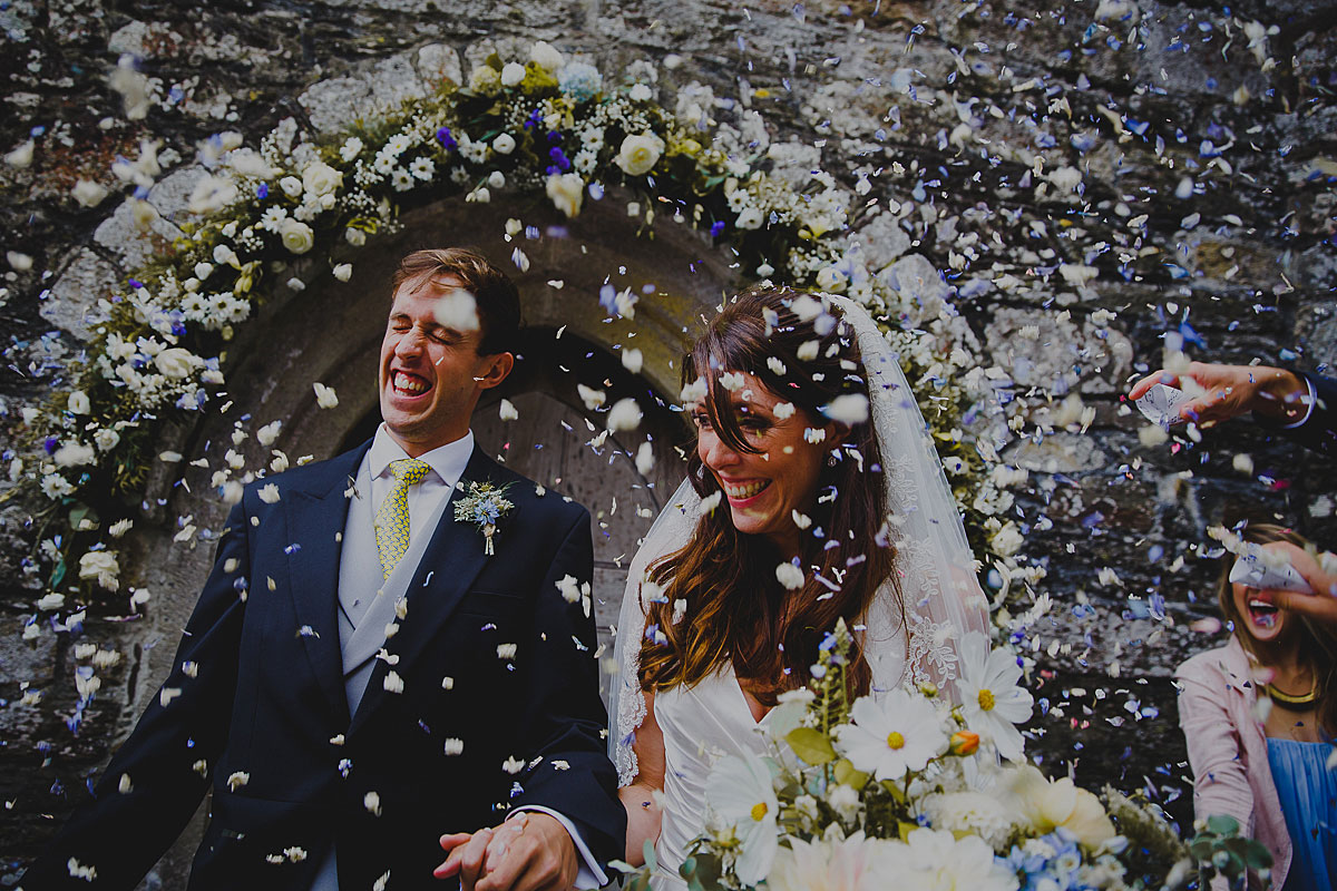 St Just in Roseland Church Wedding Photographer