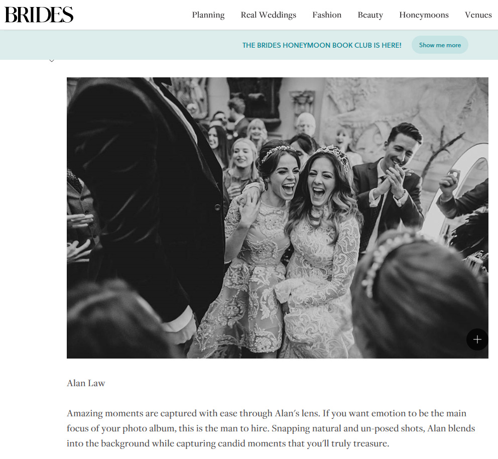 brides magazine top 15 wedding photographers