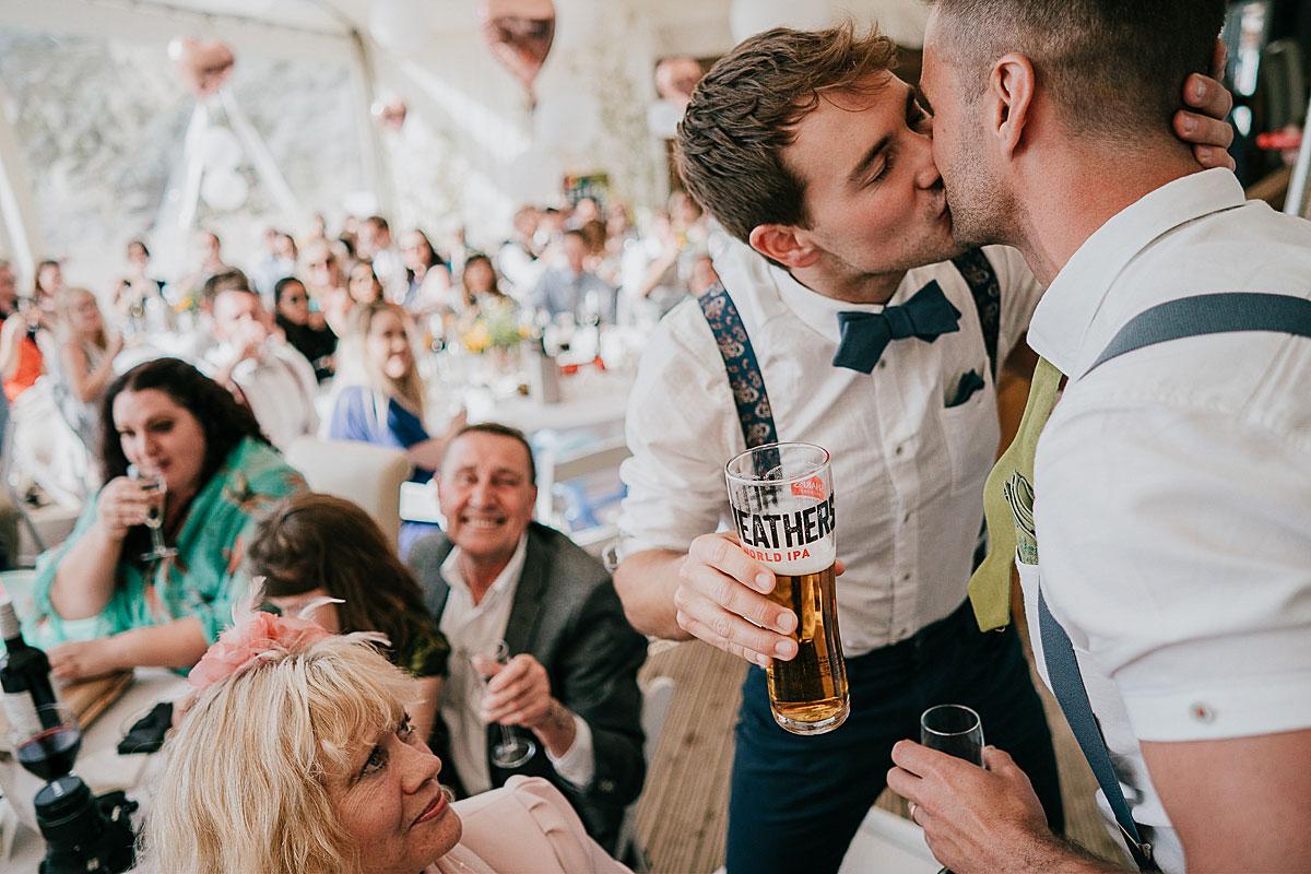 gay wedding photographer cornwall