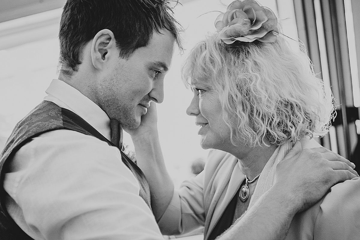 Alex and his mum, during my time as a Lusty Glaze wedding photographer